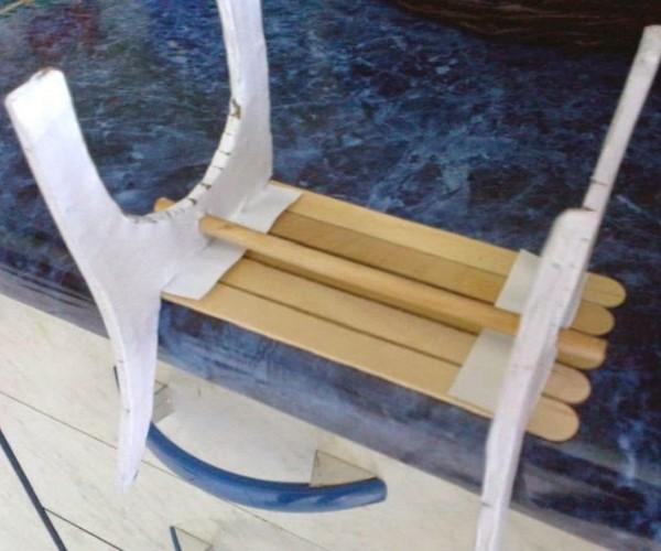 Как сделать скамейку для поделки 2